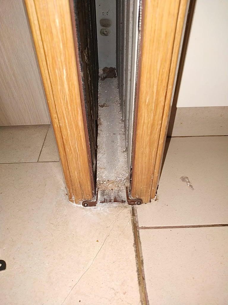 Replace pocket door floor guide (2)