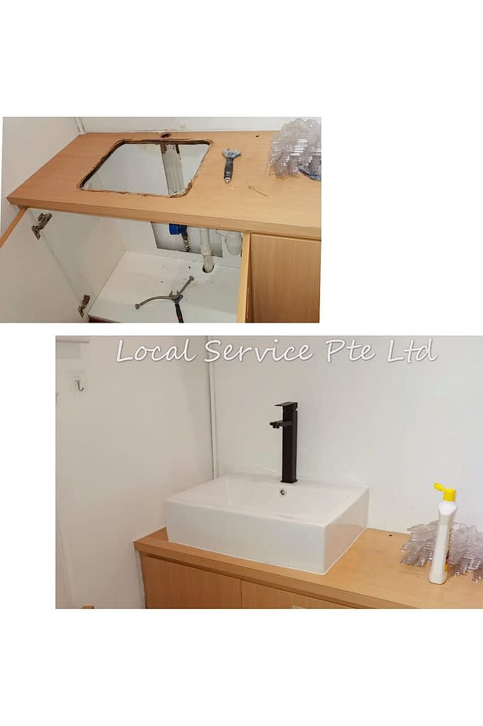 Replace Basin And Re-silicon At BreadTalk Building