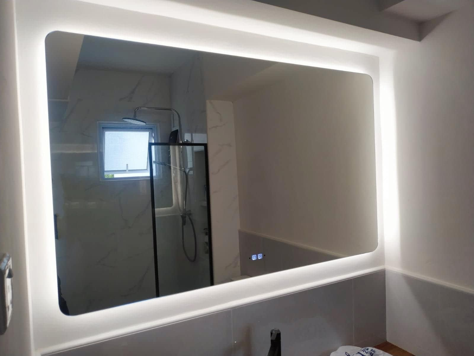Install Mirror With Led Light