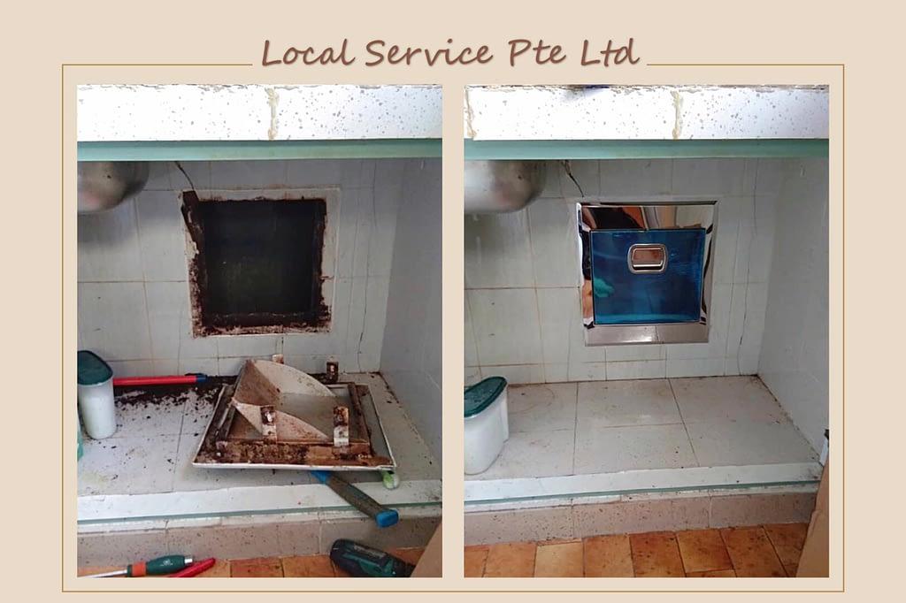 Supply And Install Rubbish Chute At Tampines Street 21