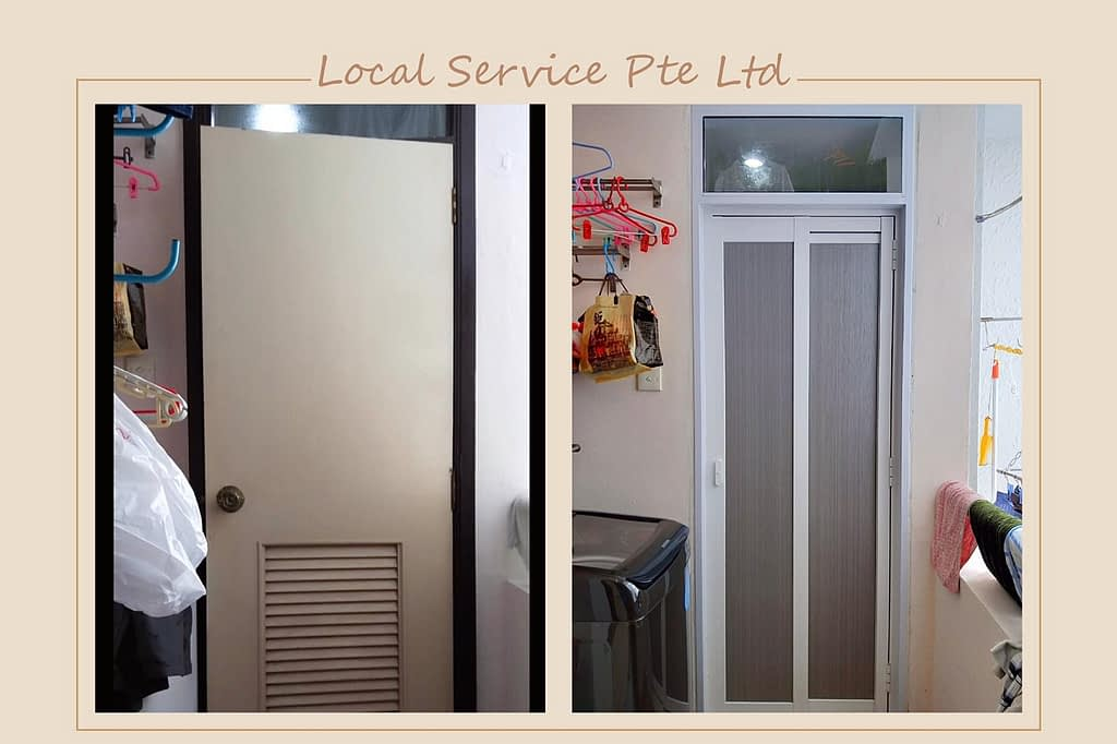 Replace Aluminium Door Frame And Slide And Swing Door At Regent Heights